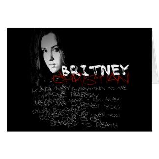 Poemas líricos do cristão de Britney Cartão Comemorativo