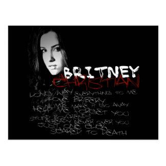 Poemas líricos do cristão de Britney Cartão Postal