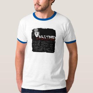 Poemas líricos do cristão de Britney T-shirt