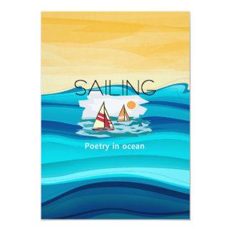 Poesia SUPERIOR da vela Convite 12.7 X 17.78cm