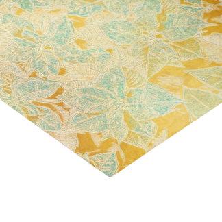 Poinsétia azul no ouro - lenço de papel