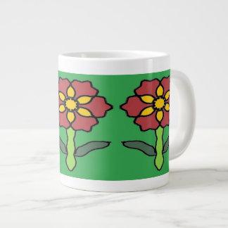 Poinsétia bonito caneca de café gigante