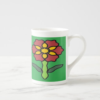 Poinsétia bonito xícara de chá