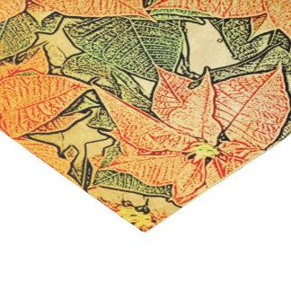 Poinsétia estilizado no ouro - lenço de papel