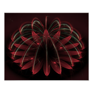 """Poinsétia vermelha de Lotus 15"""" X12 """" Poster"""