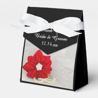 Poinsétia vermelha e casamento no inverno das caixinha de lembrancinhas para festas