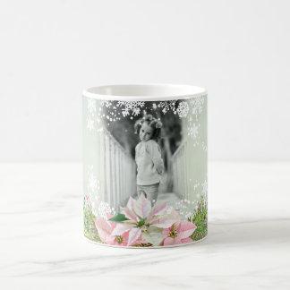 Poinsétias cor-de-rosa Enchanting Caneca De Café