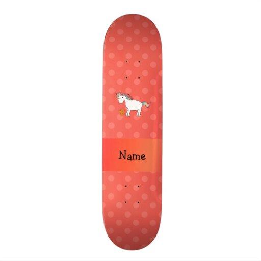 Polca conhecida personalizada da laranja do unicór skates