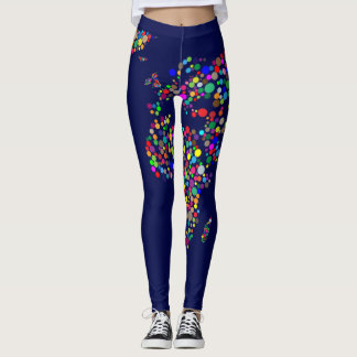 Polcas dos mapas do mundo legging