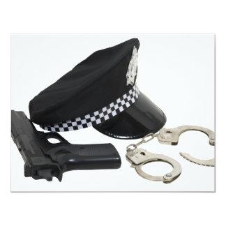 PolicemanKit081609 Convite 10.79 X 13.97cm