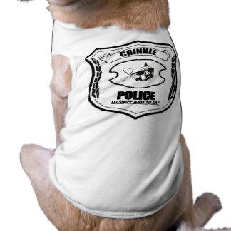 Polícia da dobra camisa sem mangas para cachorro