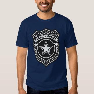 Polícia da forma camiseta