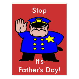 Polícia - dia dos pais cartão postal
