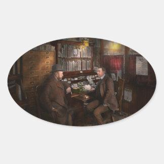 Polícia - o detective privado - 1902 adesivo oval