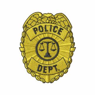 Polícia Serviço Crachá Camiseta Bordada Polo
