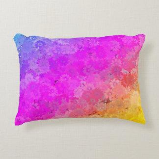Poliéster floral ou algodão do arco-íris dos almofada decorativa