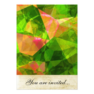 Polígono abstratos 102 convite personalizados