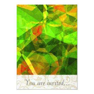 Polígono abstratos 105 convite personalizados