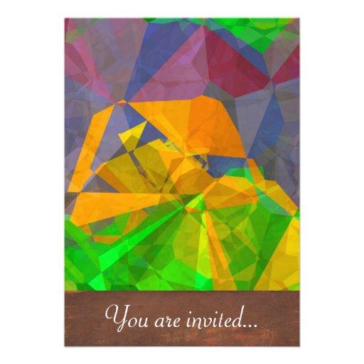 Polígono abstratos 106 convites personalizados