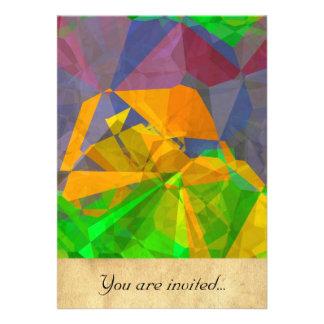 Polígono abstratos 106 convites personalizado