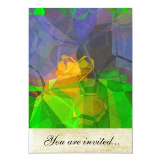 Polígono abstratos 108 convite personalizado