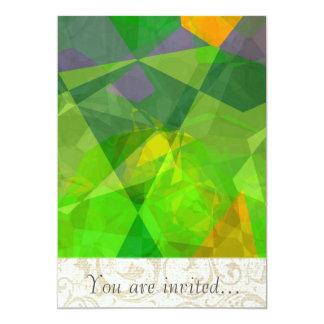 Polígono abstratos 109 convite personalizado
