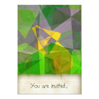 Polígono abstratos 111 convite 12.7 x 17.78cm