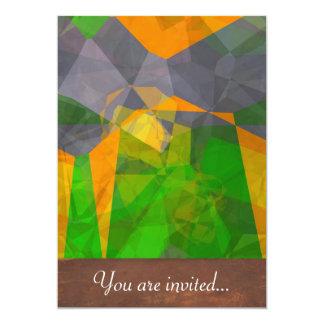 Polígono abstratos 112 convite 12.7 x 17.78cm