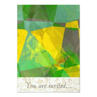Polígono abstratos 113 convite personalizados