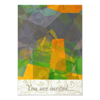 Polígono abstratos 115 convites personalizado