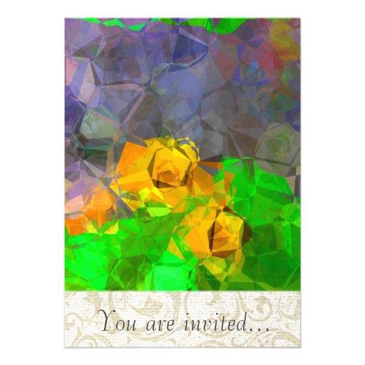Polígono abstratos 116 convite personalizados