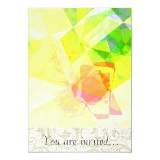 Polígono abstratos 120 convites personalizados