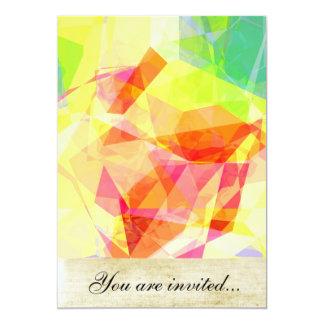 Polígono abstratos 121 convites personalizados