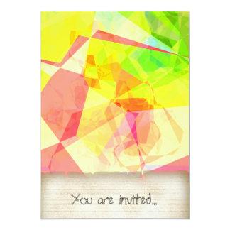 Polígono abstratos 122 convites personalizados