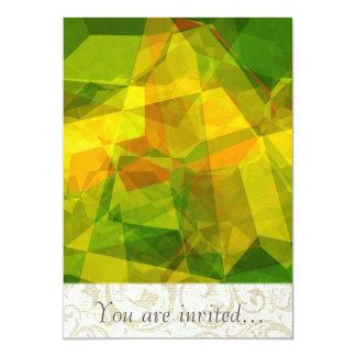 Polígono abstratos 123 convites