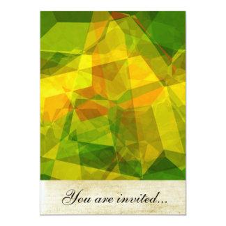 Polígono abstratos 123 convite 12.7 x 17.78cm