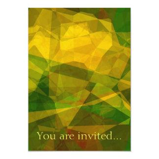 Polígono abstratos 124 convite 12.7 x 17.78cm