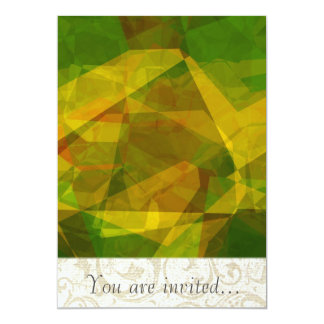 Polígono abstratos 125 convites personalizados