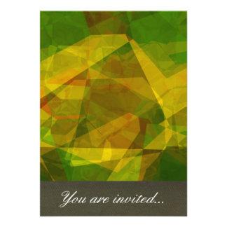 Polígono abstratos 125 convites