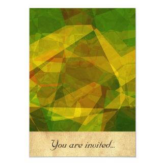 Polígono abstratos 125 convite 12.7 x 17.78cm