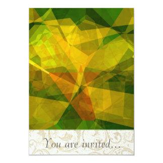 Polígono abstratos 126 convite personalizados