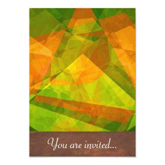 Polígono abstratos 127 convite 12.7 x 17.78cm