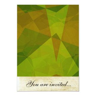 Polígono abstratos 129 convite 12.7 x 17.78cm
