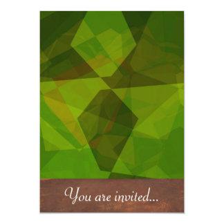 Polígono abstratos 130 convites personalizados