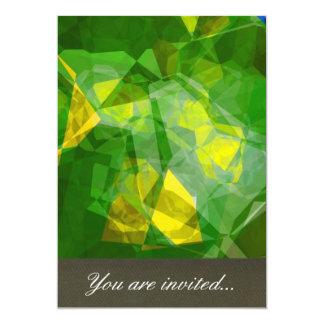 Polígono abstratos 133 convite 12.7 x 17.78cm