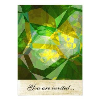 Polígono abstratos 136 convites