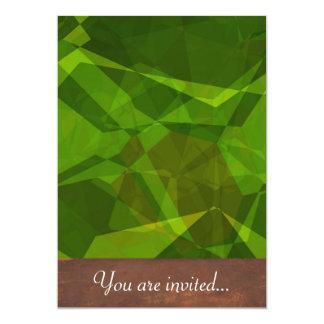 Polígono abstratos 138 convites personalizado