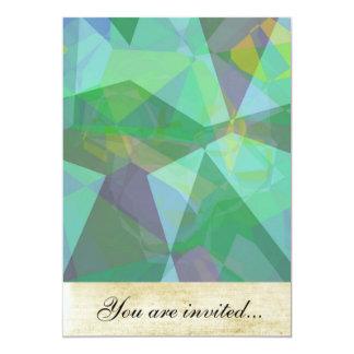 Polígono abstratos 139 convites personalizados