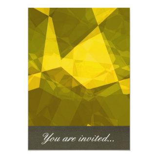 Polígono abstratos 140 convite personalizados