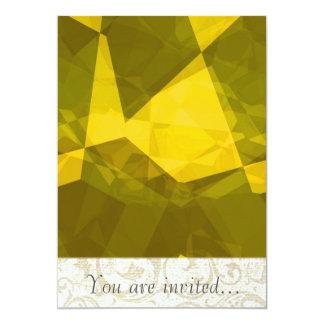Polígono abstratos 140 convites personalizados